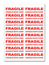 800 - FRAGILE - Handle with care Labels Large Stickers