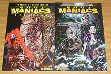 2001 Maniacs Hornbook #1 VF/NM one-shot + gore variant - robert englund set 2007