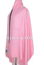 New 4-Ply 70% Pashmina & 30% Silk Pure Shawl~Pink