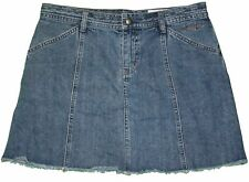 DKNY sz 9 womens Juniors Denim Blue Jeans Skirt KE27