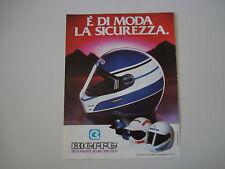 advertising Pubblicità 1986 CASCO BIEFFE