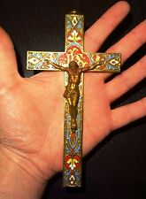 CROIX RUSSE ORTHODOXE EMAILLEE EN BRONZE - 19° S RUSSIAN ENAMELLED BRONZE CROSS