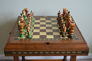 Hand painted Viking Themed Chess Set - Pieces only
