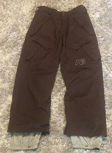 Men's BURTON Analog Snowboard Ski Pants - Brown - Size Large