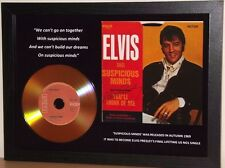 ELVIS PRESLEY 'SUSPICIOUS MINDS' SIGNED GOLD PRESENTATION DISC