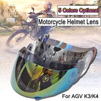 Per AGV K3 K4 Visiera Casco Specchio Helmet Adatto Anti Graffio UV Motocross