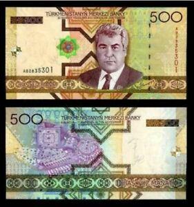 Turkmenistan 500 Manat 2005 Prefix AA (UNC) 全新 土库曼斯坦 500马纳特 2005年 AA7635564