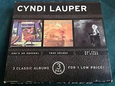 RARO 3 Cd Rock Pop Juego: CYNDI LAUPER ~ she's SO Inusual ~ Portrait RK 38930