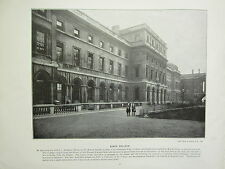 1896 VICTORIAN LONDON PRINT + TEXT ~ KING'S COLLEGE