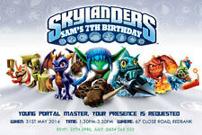 Skylanders Birthday Invitation Any Age-We Print/Print Yourself