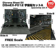 [HAKONIWAGIKEN EX-F012HG 515x364mm] Diorama sheet mini-EX HG Spaceship A (SF)