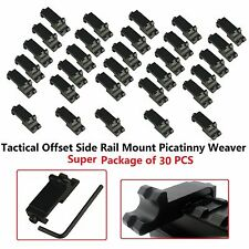 30x Tactical Offset Side Rail Mount Picatinny Weaver Angle Scope Sight 45 degree