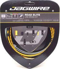 Jagwire Road Elite Link Ultra-Slick Brake Cable Kit Gold + Free BC-R680 Cap x2