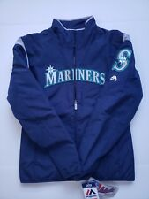Majestic Seattle Mariners Jacket Therma Base Navy Baseball Sz S NWT