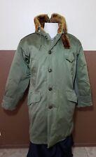 Vtg 40s 50s B-9 Military Parka Coat Jacket W/ Hood US Army Rare Winter