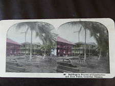 "c. 1900 COLOUR 3d STEREOGRAPH/ STEREOGRAM PHOTO CARD      ""CRISTOBAL PANAMA"""