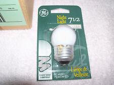 12 Nos GE 7 1/2 Watt Night Light Bulbs Fits Signal lights,Signs,Special Effects