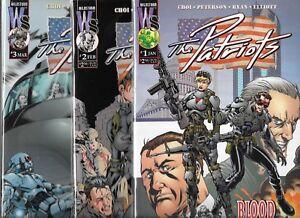 THE PATRIOTS LOT OF 3 - #1 #2 #3 (NM-) IMAGE COMICS, JIM CHOI