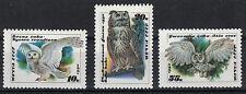 RUSSIA, USSR:1990 SC#5871-5873(3) MNH Owls