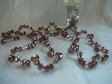 SET OF MATCHING NECKLACE, PIERCED EARRINGS & BRACELET WITH PALE LAVANDER BEADS