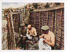 German Soldiers Trench delouse Russia Deutsches Heer WWI WELTKRIEG 14/18 CHROMO
