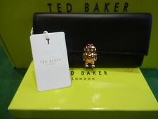 NEW TED BAKER BLACK JEMO ROBOT LARGE FLAP OVER MATINEE PURSE