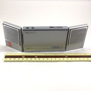 Rare Sony SRS-20 Stereo Portable Active Speaker System For Walkman Made In Japan