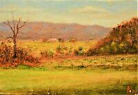 ARTURO GARCIA Original Signed Vintage Farm House Hudson Landscape Oil Painting
