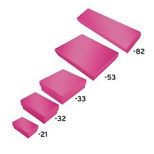 Hot Pink Cotton Filled Jewelry Packaging Gift Boxes Box Lots 100 ~ 200 ~ 500