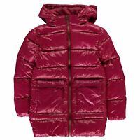 Everlast Kids Girls Long Bubble Jacket Junior Puffer Coat Top Sleeve Hooded Zip