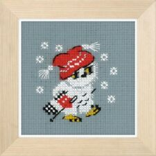 Snow - Owl - Riolis Counted Cross Stitch Kit w/14 Ct. Aida New