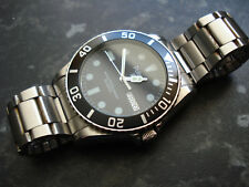 Pulsar Seiko  Quartz Beautiful Condition Military Divers Watch Stainless Steel