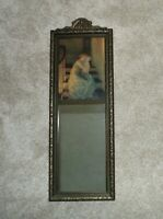 Art Deco Trumeau Wall Mirror Mother & Child Print Samuel Schiff GOOD NIGHT KISS