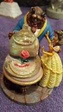 "Disney Belle Beauty And the Beast Mini Snowglobe  Snow Globe  Rose 3.75"""