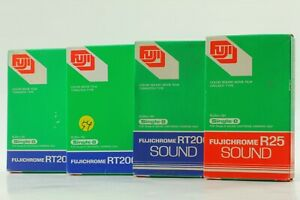 RARE! [NEW] FUJICHROME R25 SOUND + RT200 + Single-8 Color Movie Film From Japan
