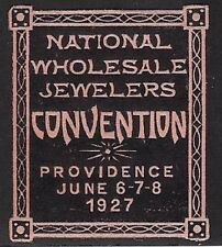 USA Poster stamp: 1927 National Wholesale Jewelers Convention, Providence - dw98