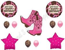 PINK COWGIRL BOOTS Happy Birthday Party Balloons Decoration Supplies Horse West
