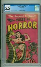 Tales Of Horror #10 CGC 5.5 Snakes Cover 1954