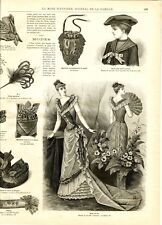 French MODE ILLUSTREE SEWING PATTERN December 6,1891 -