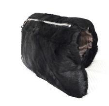 Lammfell Tasche MUFF Pelztasche Handwärmer lamb fur bag black Pelz schwarz Lamm