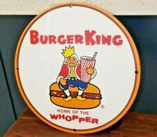 VINTAGE BURGER KING PORCELAIN BEVERAGE COLA, IN-N-OUT BURGER ADVERTISING SIGN