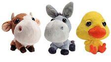 ANIMALI DELLA FATTORIA ASINO + MUCCA + PULCINO PELUCHE Coop Toy Big Headz Plush