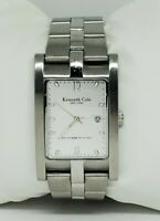 Mens Kenneth Cole Elegant Stainless Silver Tone Date Analog Watch KC 3227 B6