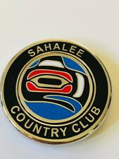 Sahalee Country Club Member Black Blue Magnetic Golf Ball Marker Coin Medallion