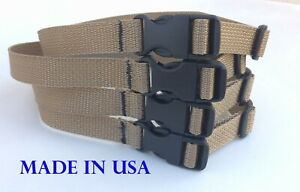 """4 strap Tie Strap 24"""" Long 3/4""""w Buckles Strap Cable Straps Tie Down Made in USA"""