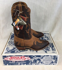 Boulet Canada Western Rodeo Collection Leather Boots Size US10 UK9.5 New!