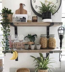 Industrial Style Scaffold Board Shelves - Wooden Shelf - Rustic Shelves