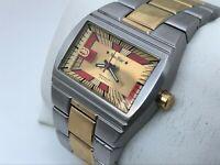 Marc Ecko Men Watch Non Stop Silver/Gold Tone WR 50M E8500201 Japan Movt