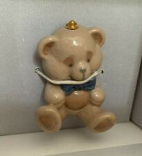 Lladro #6344 Teddy Bear Christmas Ornament From Santa's Workshop Collectable