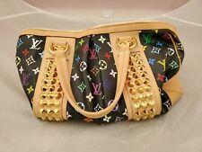 Black Studded LOUIS VUITTON Courtney GM Monogram Multicolor Canvas Handbag